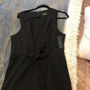Lulus Tie-Front Black Jumpsuit (M-L)